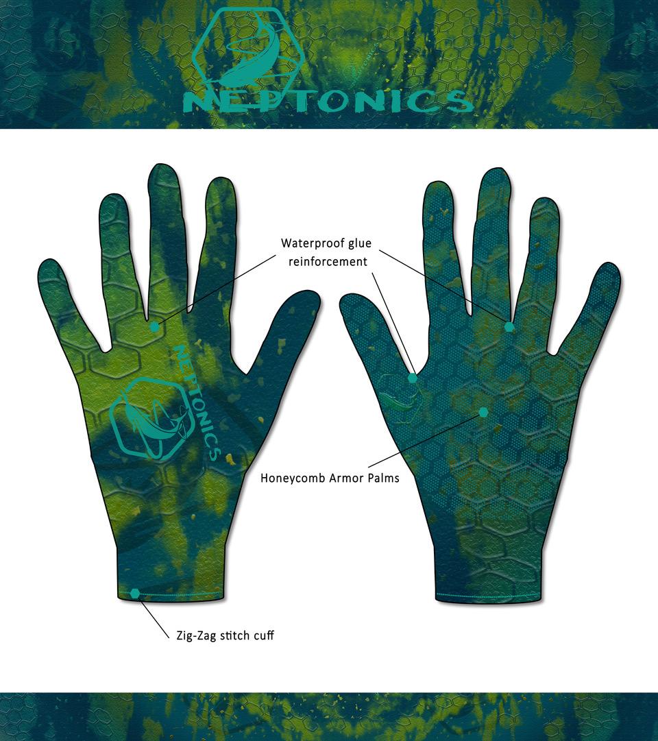 Neptonics Camo Spearfishing Gloves Tech Sheet Website
