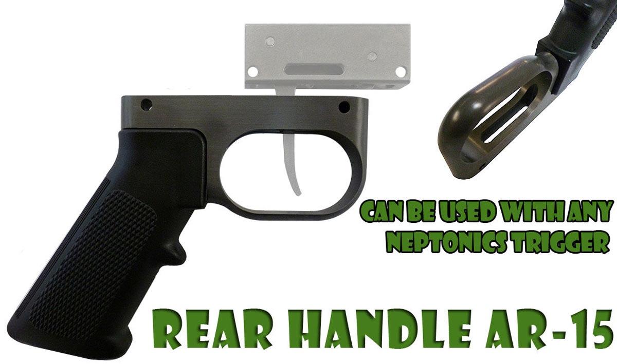 AR 15 Speargun Handle Rear